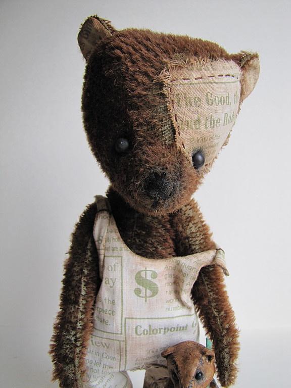 Мишки Тедди ручной работы. Ярмарка Мастеров - ручная работа Клайд. Handmade.