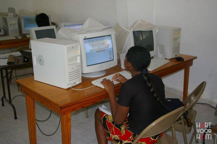 Het computerlokaal.