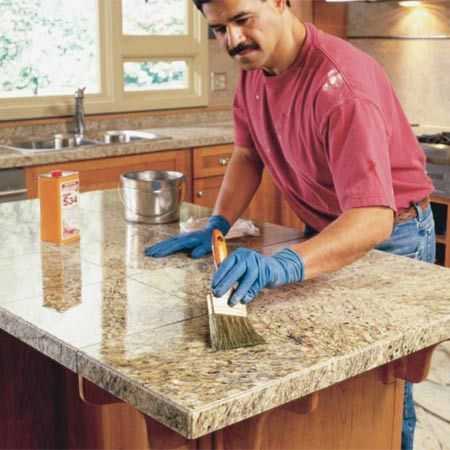 Granite tile counter tops