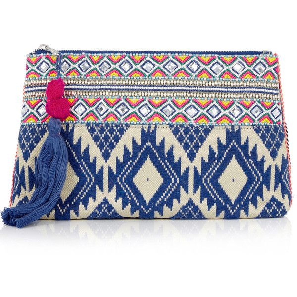 OASIS Delhi Clutch Bag (3.310 RUB) ❤ liked on Polyvore featuring bags, handbags, clutches, multi, blue handbags, beaded handbags, blue purse, oasis handbags and beaded purse