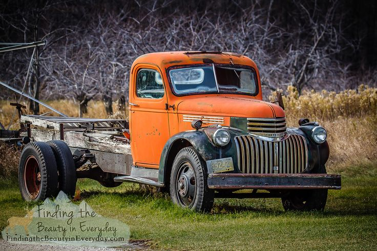 Old Cherry Truck - This old truck was a workhorse used in a cherry orchard in Door County, WI. Now retired from duty, as many of the old cherry orchards are. Prints available.