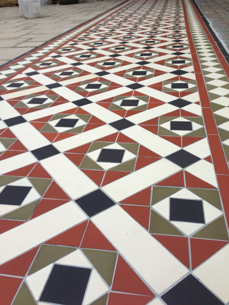 Victorian tiles to a front path, a great look for any entrance.