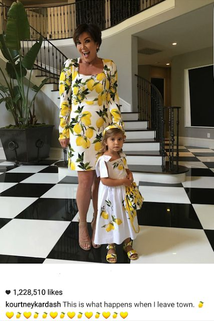 Welcome to Oghenemaga Otewu's Blog: Kris Jenner and Penelope Disick step out in matchi...