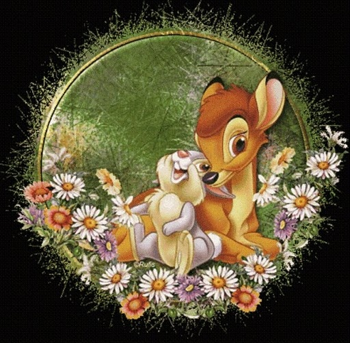 How cute is this Bambi and Thumper piece?
