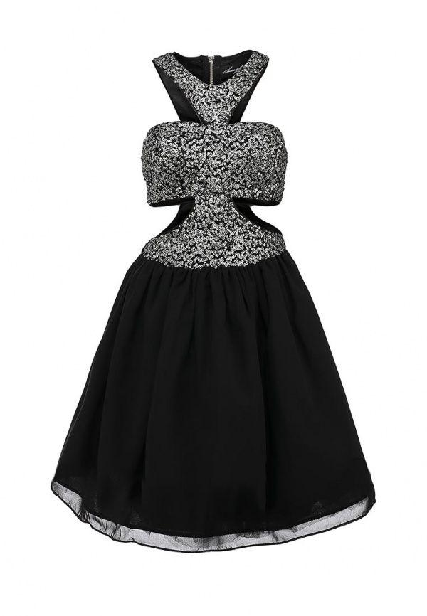 Платье Camelot женское. Цвет: черный. Сезон: Весна-лето 2014. С бесплатной доставкой и примеркой на Lamoda. http://j.mp/1pDl212
