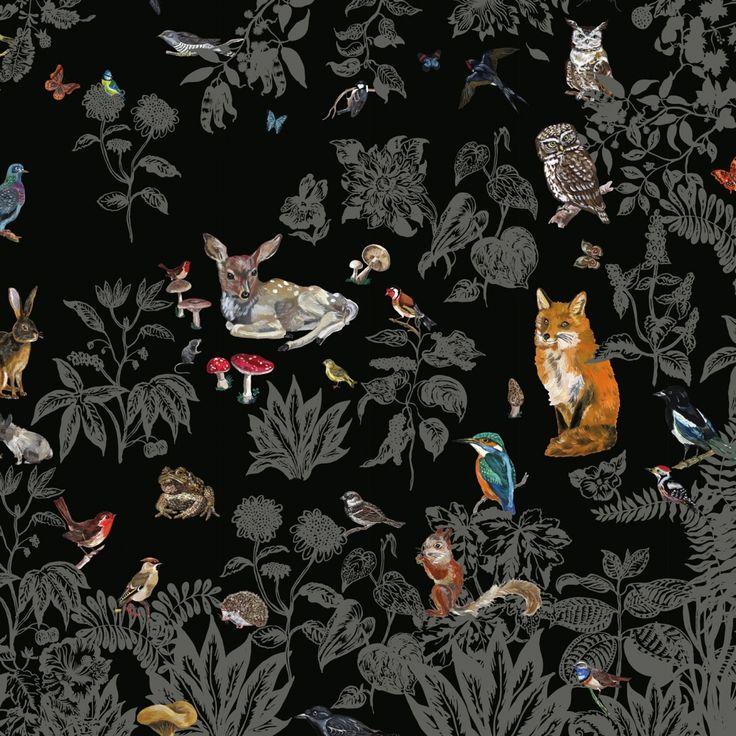 Scenic Wallpaper /// Forêt Noire  Design: Nathalie Lété    Brand: Domestic  Material: intissé paper  Size (w x h): 372 x 300 cm