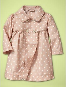 I think baby Jones needs this polka dot trench. Also, I need an adult sized one, please.