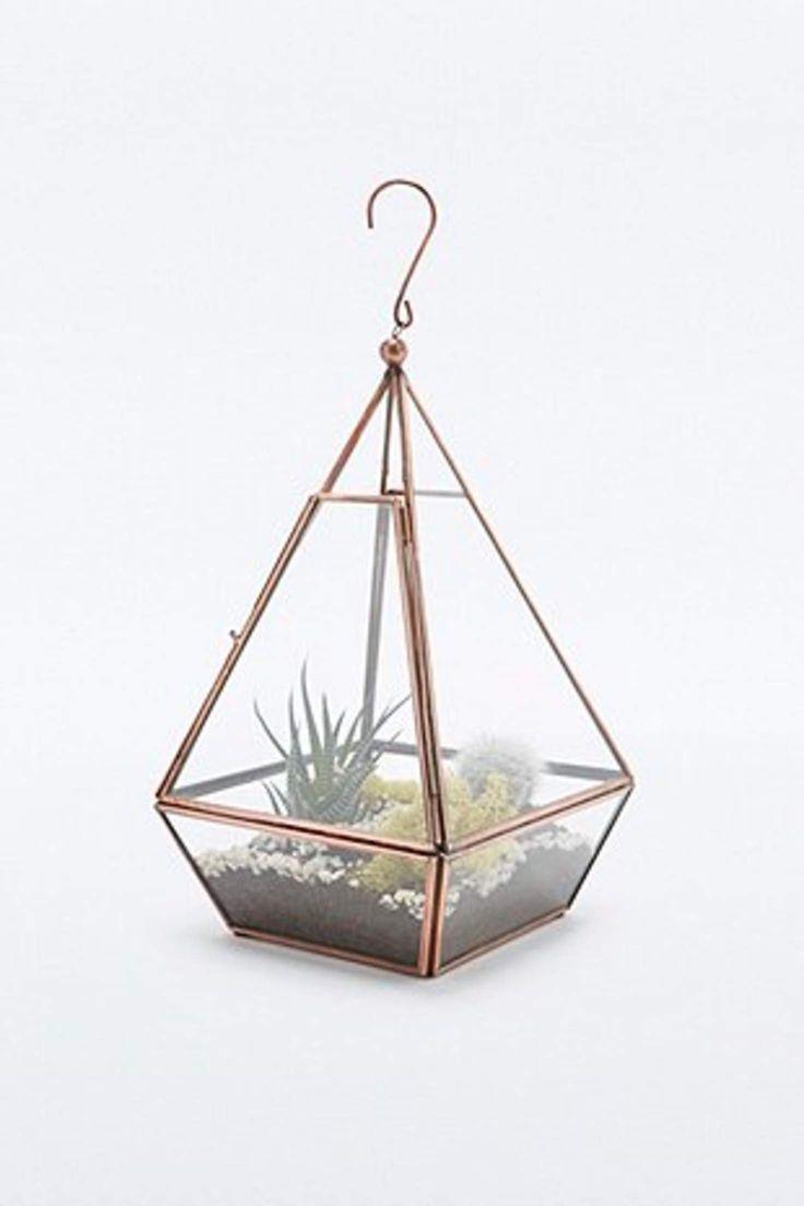 Urban Grow Mini Pyramid Terrarium in Copper - Urban Outfitters