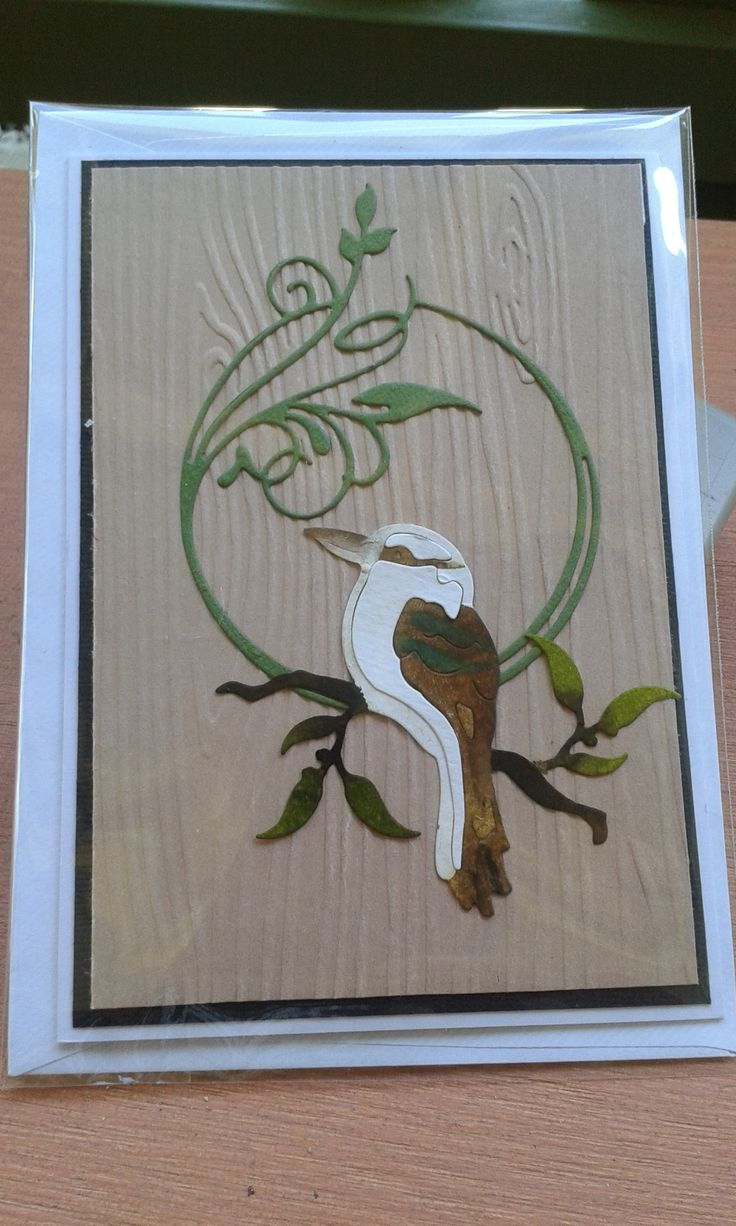 Ultimate Australiana dies - Kookaburra & Jadene: Careless & Free   Stampin' up - Woodgrain embossing folder