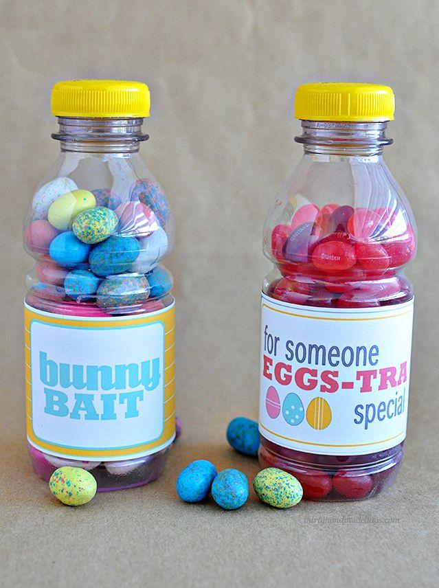 Bright & cute Easter treat bottle printables | Thirty Handmade Days