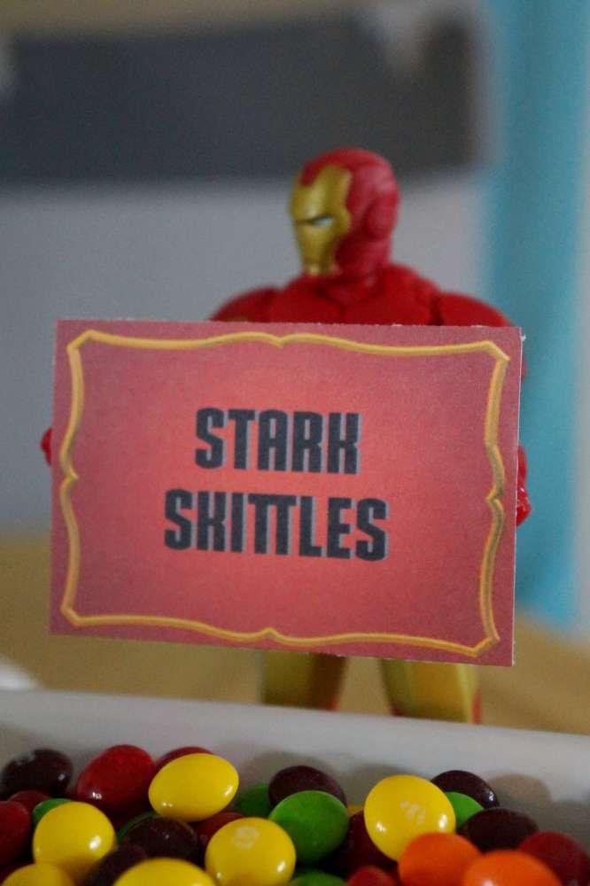 Zack's Iron Man Birthday Party | CatchMyParty.com
