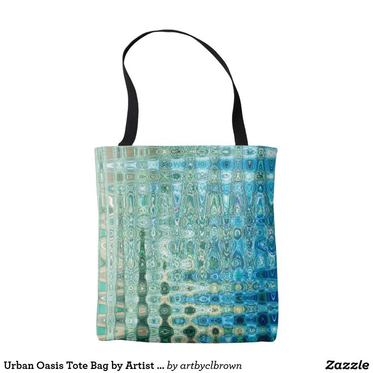 "The Urban Oasis Tote Bag designed by Artist C.L. Brown features an abstract kinetic light painting design enhanced with Photoshop. This classic tote is sturdy, sewn for edge-to-edge designs, and has lining for extra support. The dimensions are 16""l x 16""w with a strap of 28""l and the colorful design pairs well with a large variety of outfits. Your next shopping trip just got a little more earth-friendly and a lot more stylish! Spot or dry clean only. Made in the USA."