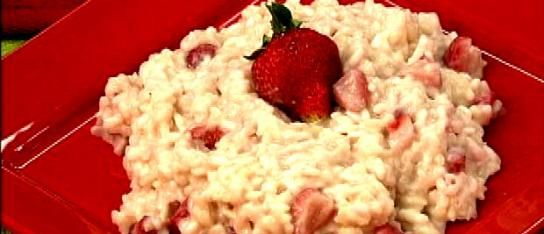 Strawberry Risotto - think I will pair with fontina stuffed pork chops ...