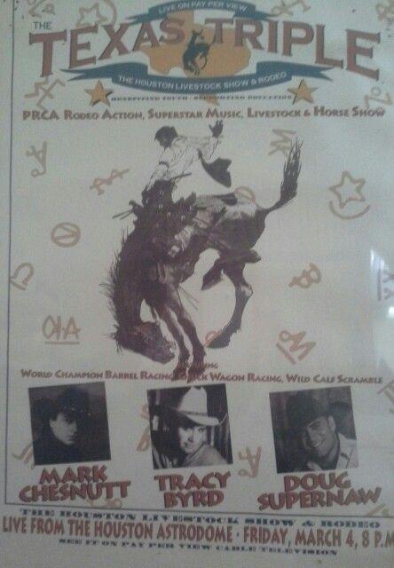 Astrodome. .houston,texas, 1994..rodeo lineup