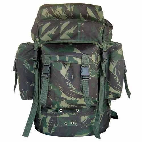 Mochila Pqdt Camuflada/preta/verde Camping Militar 45l 20% OFF