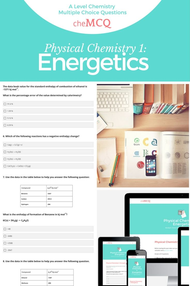 The 15 best chemistry exam practice images on pinterest ap biology aqa a level chemistry physical chemistry 1 energetics multiple choice questions interactive online quiz urtaz Images