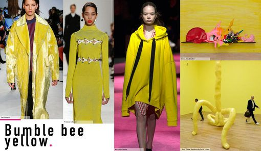 Geraldine Wharry: Key colour on the Fall Winter 2016 Catwalks: Bumble Bee Yellow - Tendances (#690716)