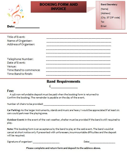 Use These Band Invoice Templates (Bill Your Music Performances