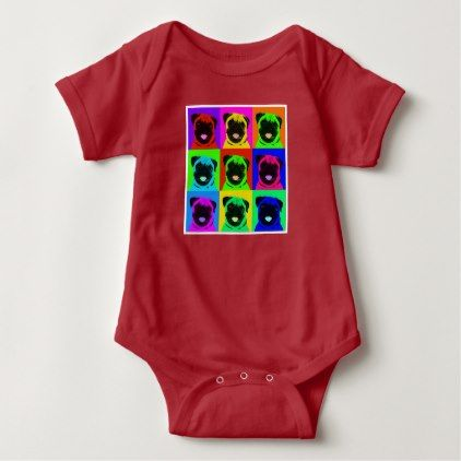#cute #baby #bodysuits - #Pug pop art baby outfit baby bodysuit