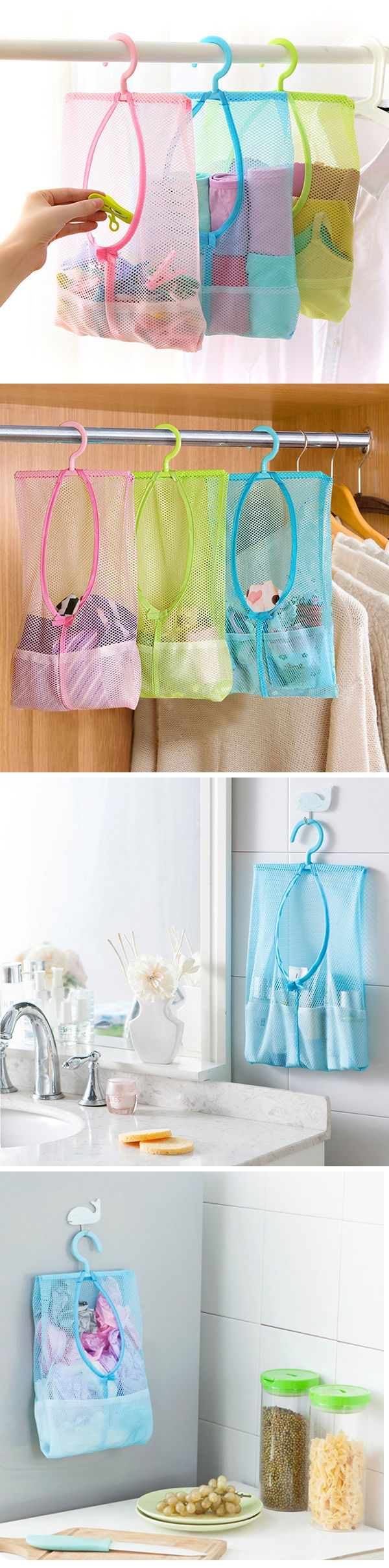 US$3.39  Underwear Socks Drying Bags Net Creative Home Wardrobe Small Objects Drying Basket
