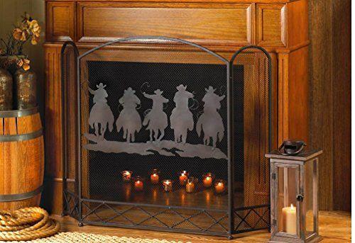 VERDUGO GIFT CO Cowboy Round-Up Fireplace Screen