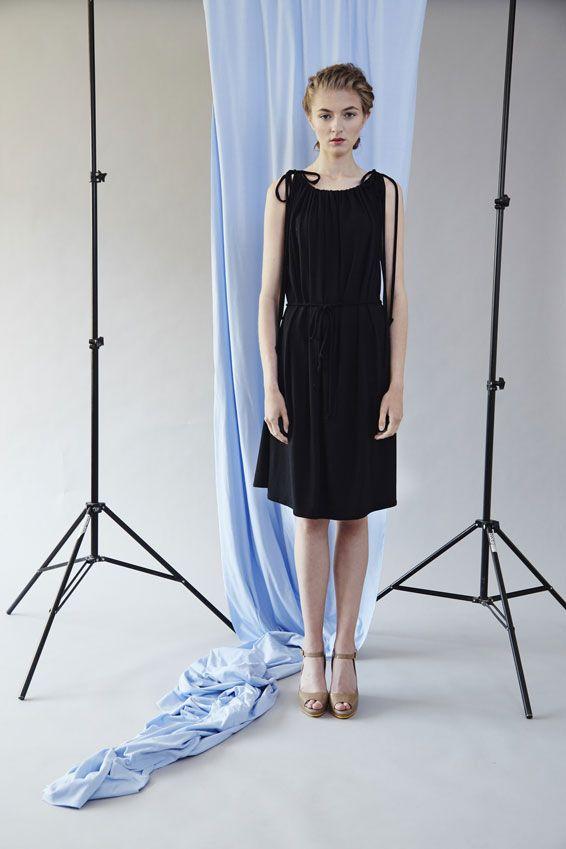 šaty řasené - černé – MOLO7