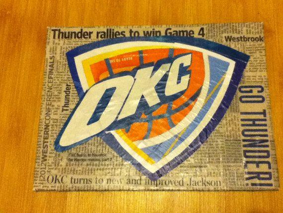 Marvelous DIY OKC Thunder Wall Decor.