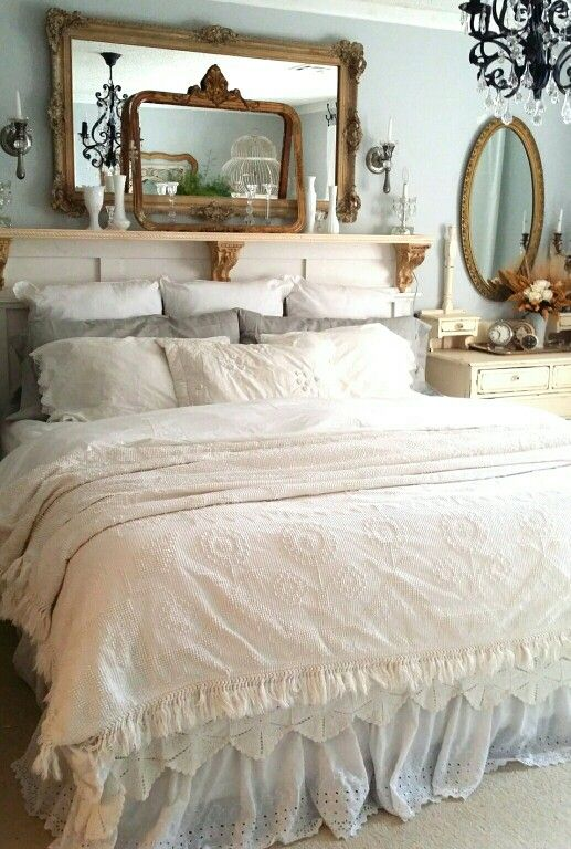 2486 best images about shabby chic bedrooms on pinterest for Rustic country bedroom