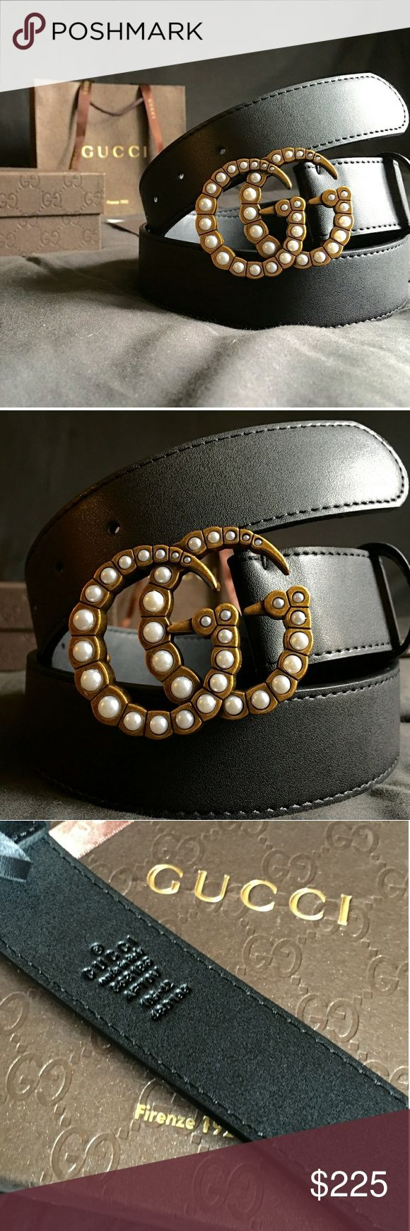 """Gucci Double G Belt!!! Gucci GG Belt W/Pearl & Antique Brass Double G Buckle!!!  Brand New!!!  Size Available - 28"""", 30"""", 32"""", 34"""", 36"""", 38"""", 40"""", 42""""!!!  Includes Gucci Belt, Gift Box, Dust Bag, Ribbon, Etc!!!  Great Gift Idea!!!  Last Available!!!  Check My Listings For Other Great Items!!!            Ignore: Gucci gg monogram casual dress belts men's women's guccissma leather gold silver web tiger bee embossed panther wool cable knit blooms supreme print angry cat ufo dragon studded snake…"""