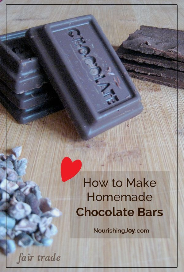 Making your own chocolate bars takes mere minutes (and they're delicious!)