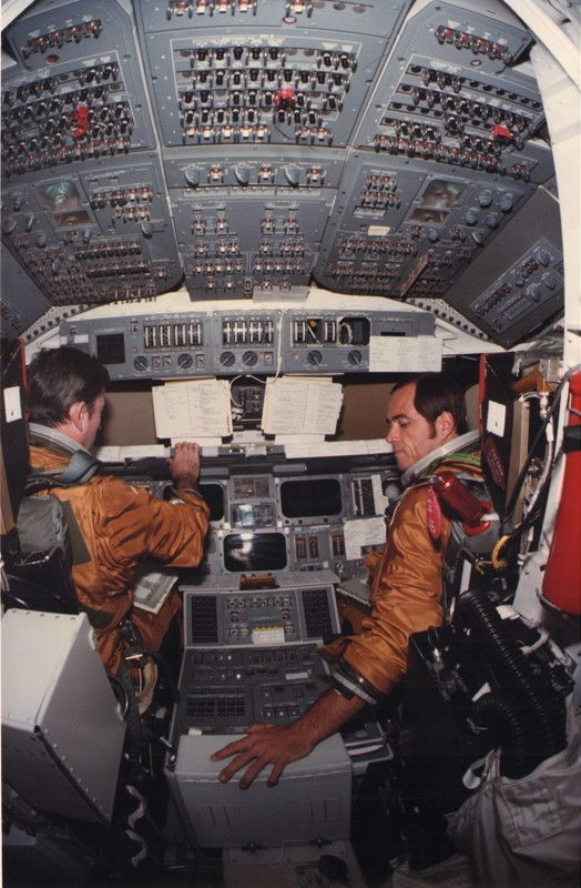 Commander John W. Young and pilot Robert L. Crippen- Prime crew members for NASA's first space shuttle flight in 1981.
