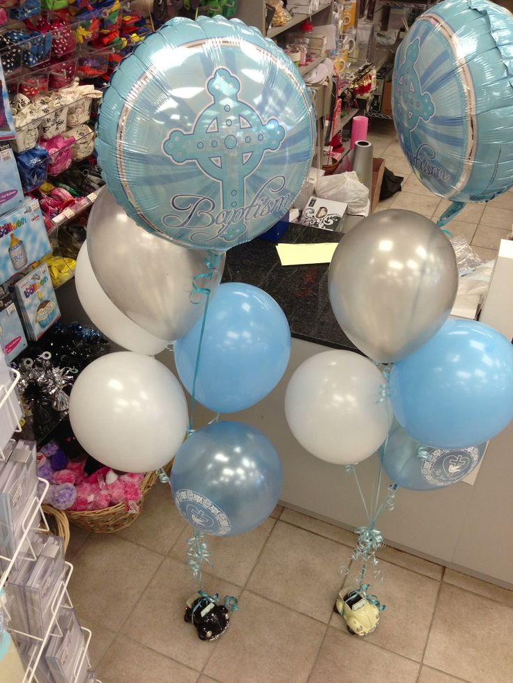 Baptism balloon bouquets for boys and girls quot mylar
