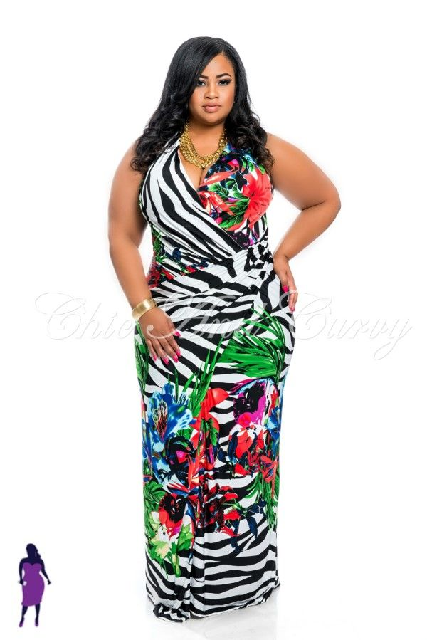 New Plus Size Sleeveless Maxi Dress in Zebra and Flower Print  available at: http://www.chicandcurvy.com/bodycons/product/9871-new-plus-size-sleeveless-maxi-dress-in-zebra-and-flower-print-1x-2x-3x  Model: Janna Plus Model MUA: Make Me Blush-Makeup by Jillian Bianca Hair: Tiffany Brooks Photographer: Lesley Pedraza Photography