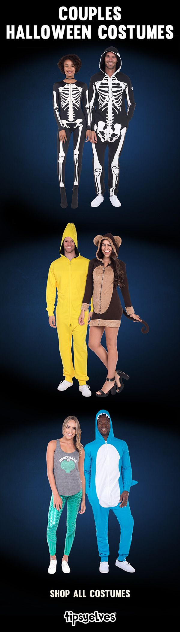 Couples Halloween costumes can be a hassle. You want style; he wants comfort. With Tipsy Elves couples halloween costumes, you'll both find what you're looking for. Say goodbye to dollar store couples Halloween costumes and hello to T ipsy Elves apparel. High-quality, stylish, and above all, FUN! Shop over 20 couple's Halloween costumes!