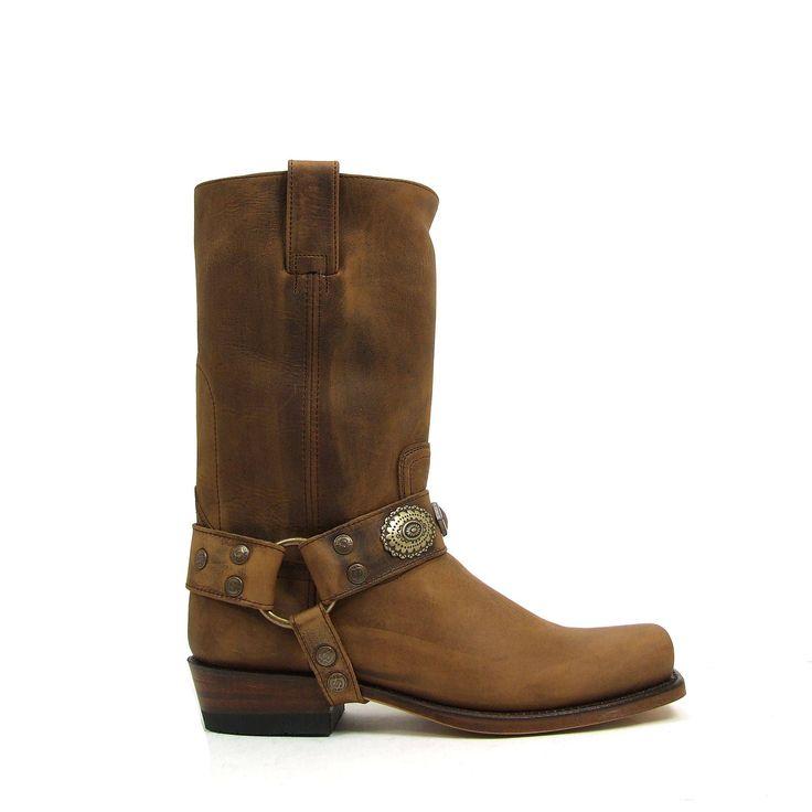 Coup De Pied Chaussures - Bottines Cowboy Hommes Bottes De Motard En Cuir À Cuir - Noir, Taille: 45 Eu