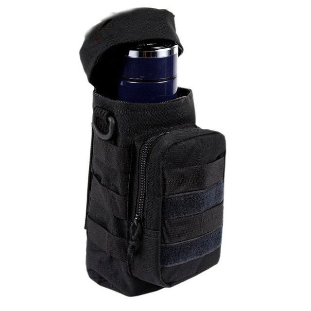 Outdoors Molle Nylon Water Bottle Pouch Kettle Hiking Waist Shoulder Bag