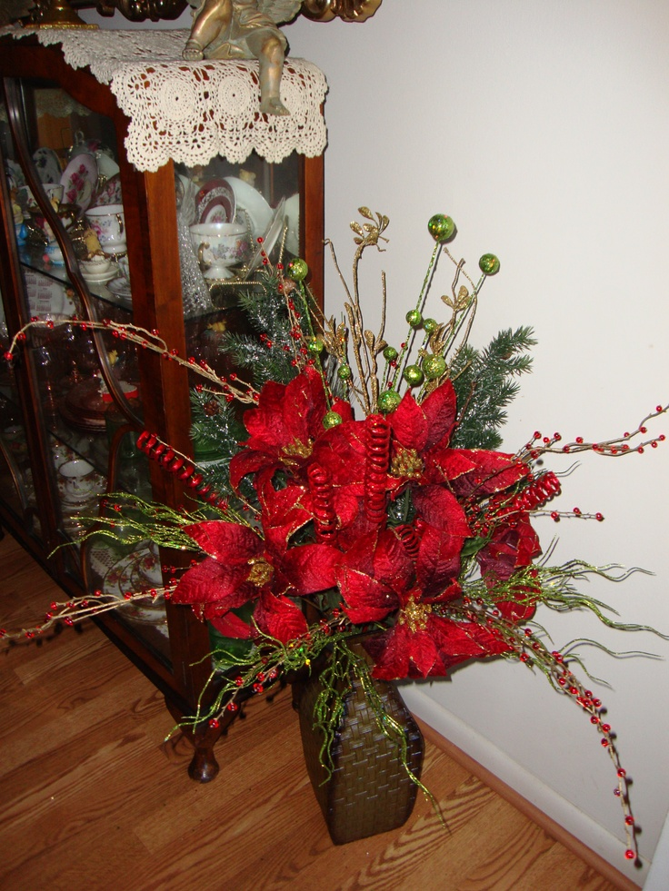 Christmas Floral Arrangement Crafts N Stuff Pinterest