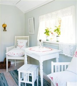 Swedish cottage bedroom (view #2)
