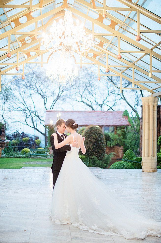 Amazing wedding ceremony venue with chandeliers! Johannesburg Wedding. Christiopher Smith Photography at Shepstone Gardens (1)