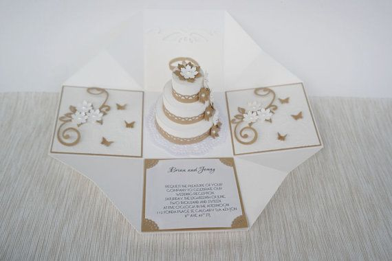 Hochzeit zu explodierenden Box goldene von LinaDeco auf Etsy