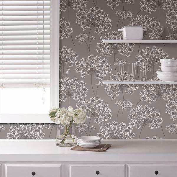 Angelica Grey Peel And Stick Wallpaper Decor Nuwallpaper Peel And Stick Wallpaper