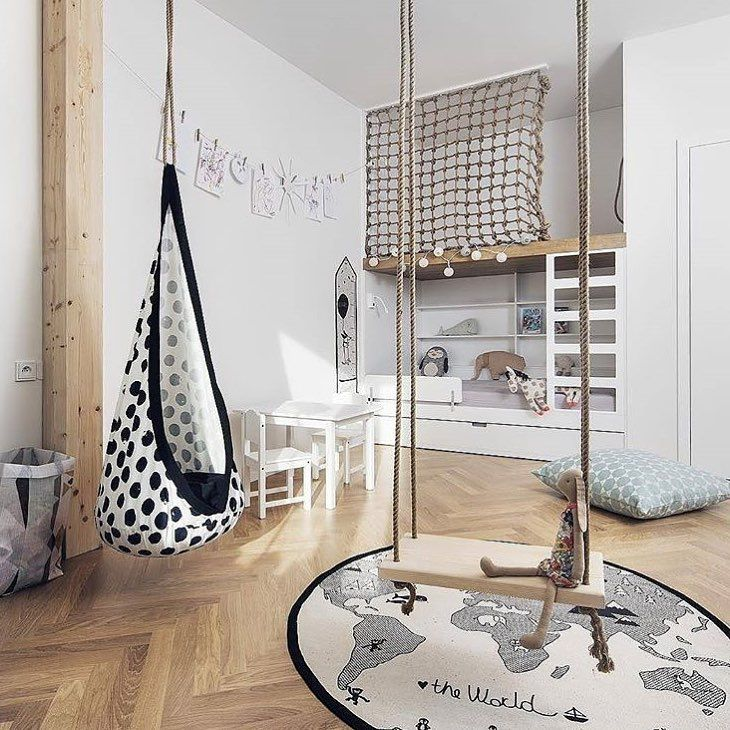 """234 curtidas, 3 comentários - Scandinavian inspired design (@scandiborn) no Instagram: """"How much fun is this kids room created by @flatwhitearchi We love the feeling of adventure it…"""""""