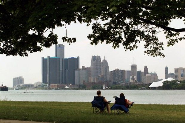 Belle Isle view. Detroit is driven to show visitors how the city has changed in recent years, with the RiverWalk, three casinos, great hotels and entertainment districts leading the way.