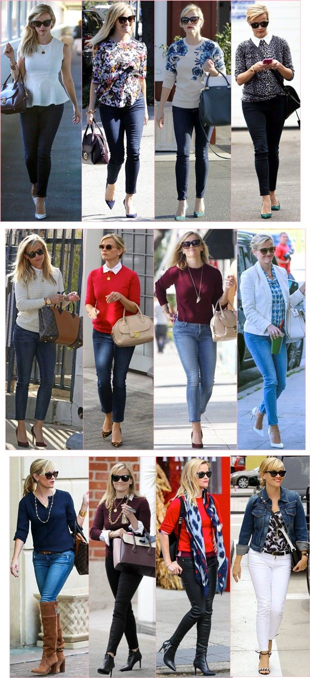 Reese Witherspoon is my style icon. She knows what looks good on her. Her style is classic, classy yet fun. I'm built similar to her as well.