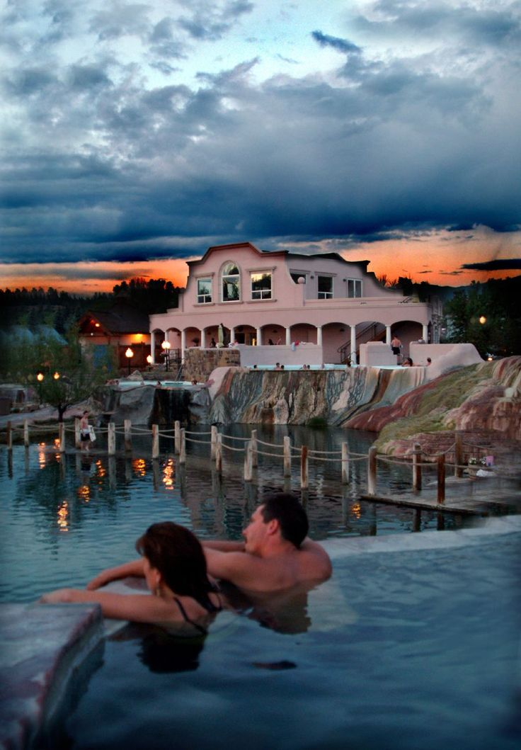 Pagosa Springs, CO- I have been to this place. Hot springs and massages. The Best Vacation ever!