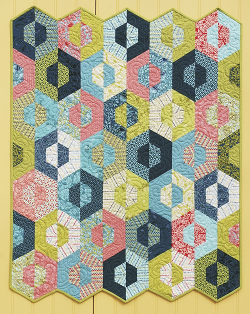 691 best Hexagon Blocks & Quilts images on Pinterest | Jellyroll ... : half hexagon quilt - Adamdwight.com
