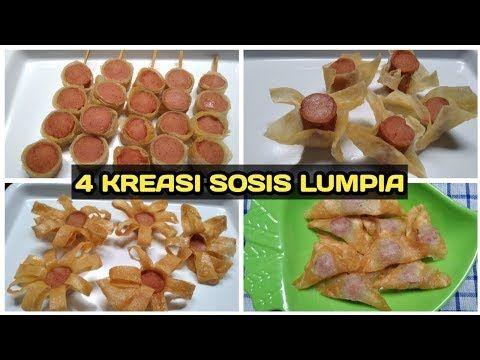 4 Kreasi Sosis Lumpia Resep Jajanan Anak Sekolah Youtube Lumpia Semarang Makanan Makanan Dan Minuman