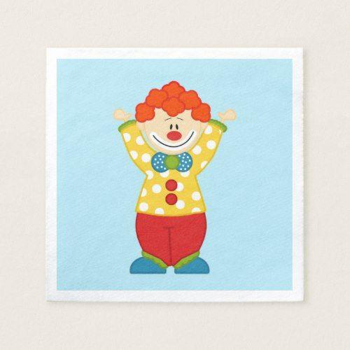 Circus Clown Birthday Custom Napkins