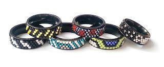 Czwartkowe DIY - pierścionki na czarnych bazach Nunn