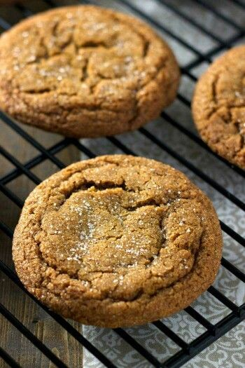 Amish Molasses cookies...these are sooo TASTY, one of our favorites. RECIPE: 1 1/2 cup butter softened 2 cup brown sugar 2 eggs 1/2 tsp salt 1/2 cup molasses 4 tsp. soda 4 1/2 cup flour 1 tsp cloves 2 tsp cinnamon 2 tsp ginger Dough may be chilled or used right away. Roll into balls and dip into sugar. Bake at 350* until set. Makes 3 dozen.